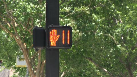 A pedestrian light Stock Video Footage
