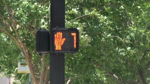 A pedestrian light Footage