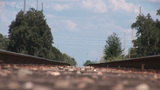 Railroad Track stock footage
