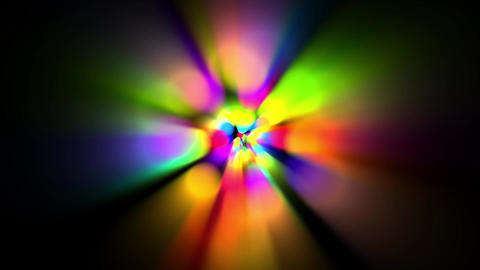 rainbow colors circle & rotate rays light as music... Stock Video Footage