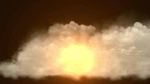 clouds & golden rays light in sky Stock Video Footage