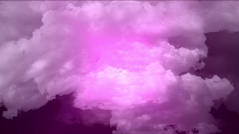 flying in purple cloud & rays light Stock Video Footage