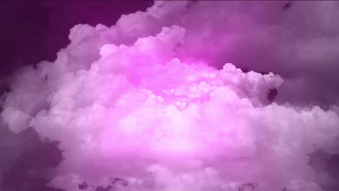 flying in purple cloud & rays light Animation