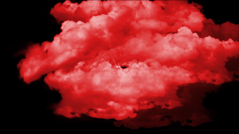 red cloud in space Stock Video Footage