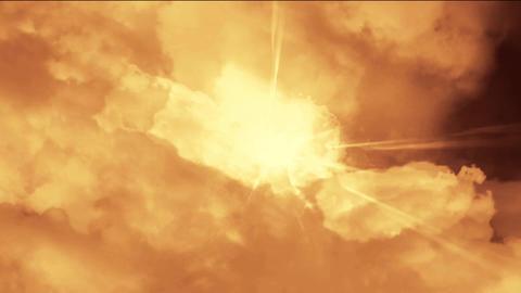flying in cloud & smoke Stock Video Footage