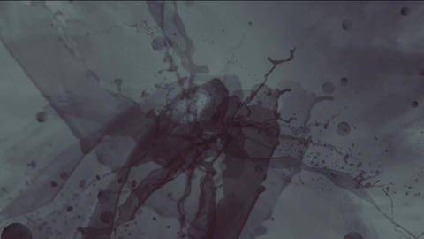 splash liquid ink & blood Stock Video Footage