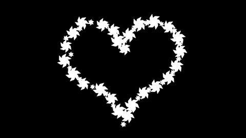 Pinwheel Heart on White Stock Video Footage