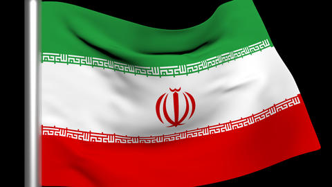 Iran Flag Animation Stock Video Footage