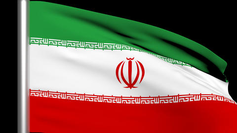 Iran Flag Animation stock footage