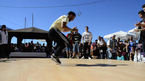Soul Kings Flavas B-Boying battle Stock Video Footage