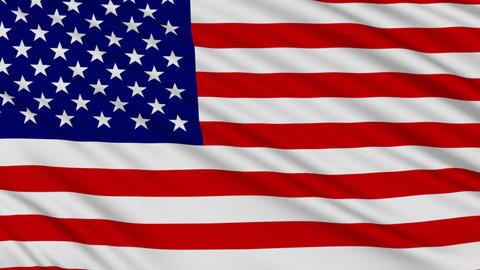 American Flag, with real structure of a fabric Stock Video Footage