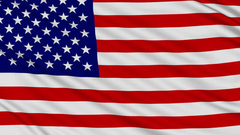 American Flag, with real structure of a fabric Animation