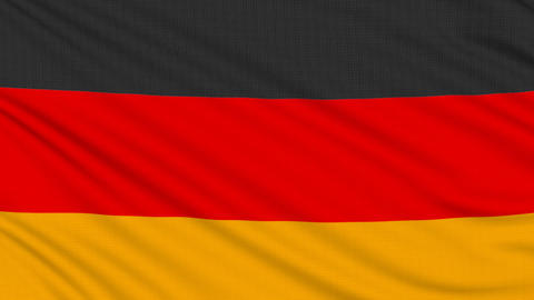 German flag, with real structure of a fabric Animation