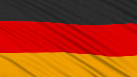 German flag, with real structure of a fabric Stock Video Footage