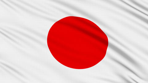 Japanese flag, with real structure of a fabric Stock Video Footage