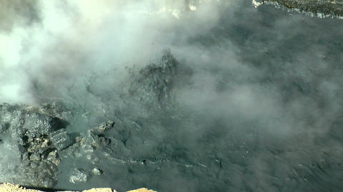 hot boiling mud pool at namafjall area in iceland Stock Video Footage