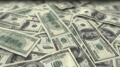 Endless Dollars in looped animation. DOF. HD 1080 Animation