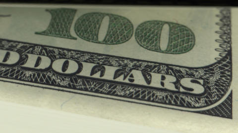 Dollars Counting in Looped animation. HD 1080 Animation