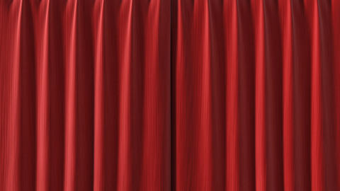 Red Curtain opening in high definition with alpha Animation