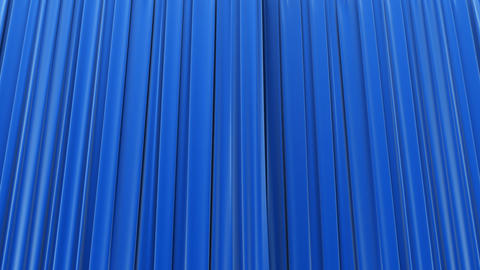 Blue curtain, Opening and closing Animation