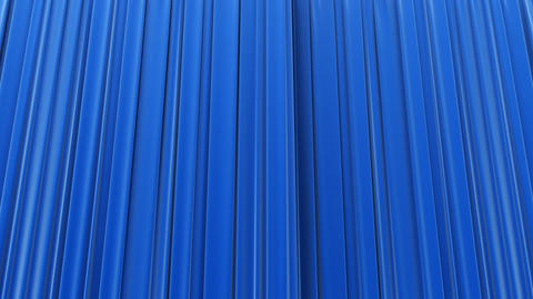 Blue curtain, Opening and closing Stock Video Footage