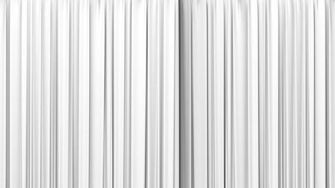White curtain, Opening and closing Animation