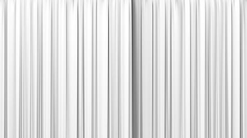 White curtain, Opening and closing Stock Video Footage