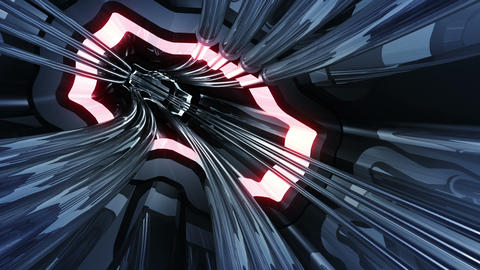 Tunnel tube SF A 01a HD Animation