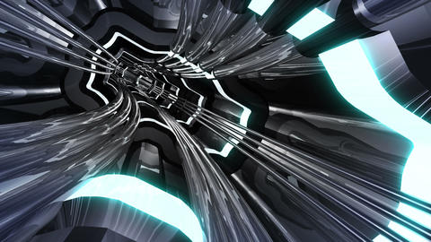 Tunnel tube SF A 01f HD Animation