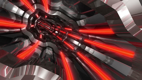 Tunnel tube SF A 01q HD Animation