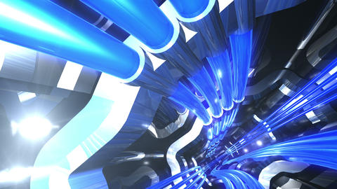 Tunnel tube SF A 02e 2 HD Animation