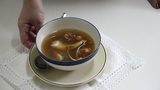A Cup Of Hot Soup Seafood stock footage