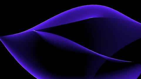 Abstract blue curve & tech web laser rays,flowing... Stock Video Footage