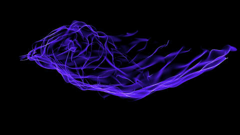 Abstract blue curve mesh light & tech web laser... Stock Video Footage
