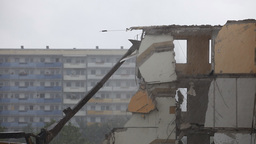 destruction old house Stock Video Footage