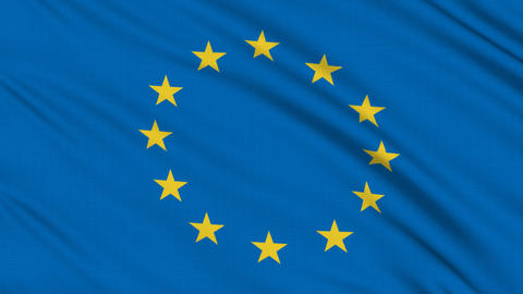 Europe flag, with real structure of a fabric Stock Video Footage