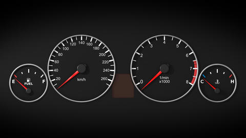 Dashboard in car. Front view. HD 1080. Loopable Stock Video Footage