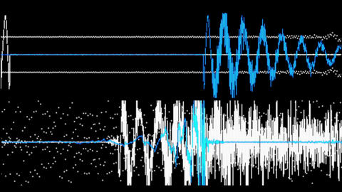 Audio waveform Stock Video Footage