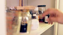 Alchemy lab choosing essences Stock Video Footage