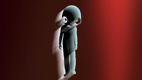 Humanoid with alien head 1 Stock Video Footage