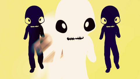 Humanoid with alien head 5 Stock Video Footage