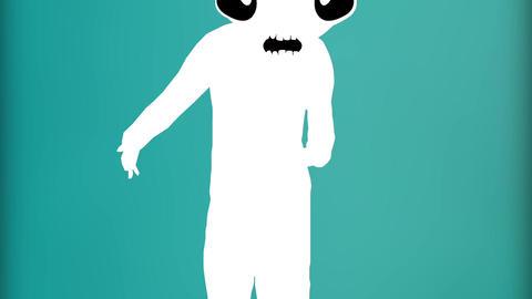 Humanoid with alien head 11 Stock Video Footage