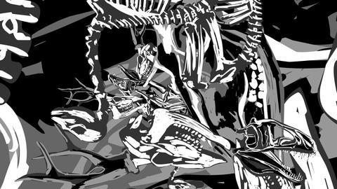 Skeletons 07 Stock Video Footage