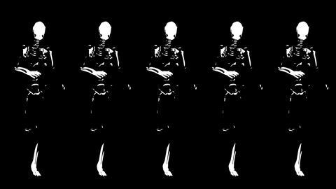 Running skeletons Stock Video Footage