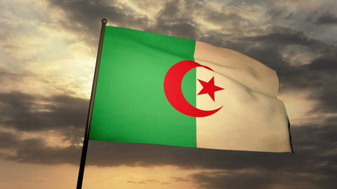 Flag Algeria 03 Animation