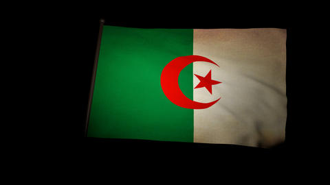 Flag Algeria 01 Stock Video Footage