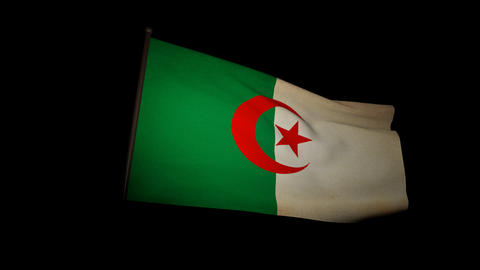 Flag Algeria 01 Stock Video Footage
