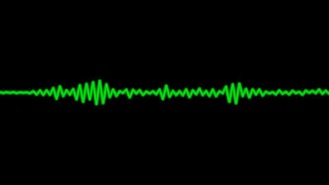 audio wave with alpha Stock Video Footage