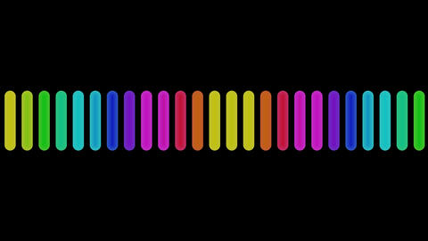 audio colors with alpha Stock Video Footage