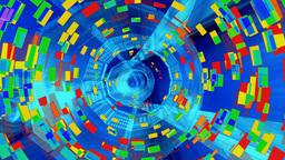Tunnel Digital Data Stock Video Footage